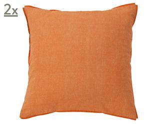 Set de 2 fundas de cojín Frida, naranja – 50x50