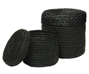 Set de 2 cestas de almacenaje Lucy - Negro