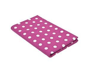Mantel Polka Dots, rosa y blanco – 130x170