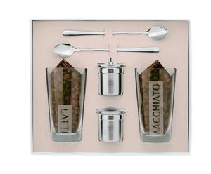 Set de 2 vasos, 2 cucharas y 2 espolvoreadores La Dolce Vita
