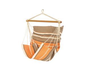 Sofá hamaca colgante - naranja y marrón