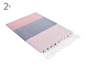 Set de 2 toallas Aqua – rojo
