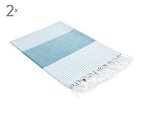 Set de 2 toallas Aqua – azul
