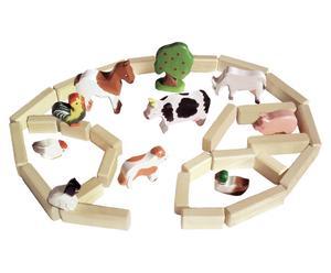 Granja infantil de madera de haya, multicolor – 36 piezas