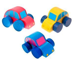 Set de 3 coches de juguete - multicolor