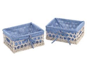Set de 2 cestas Blu Bayou