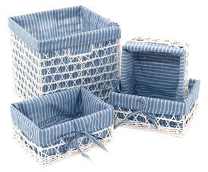Set de 4 cestas Blu Bayou