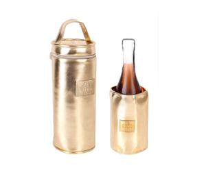 Set de 2 enfriadores de botella - dorado