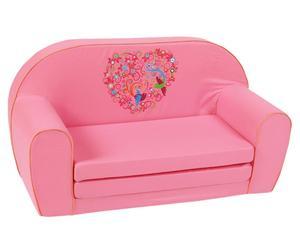Sofá infantil de algodón - rosa