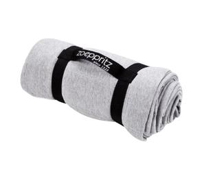 Plaid de algodón Just, gris claro - 165x115