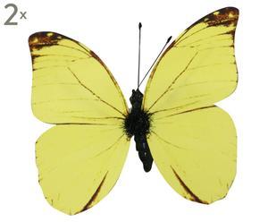 Set de 2 mariposas decorativas Doro