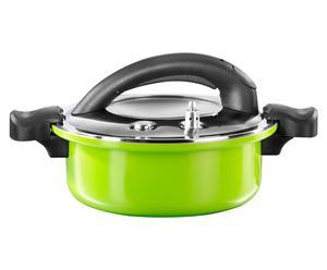Olla a presión Gaudy, verde y negro - 4l