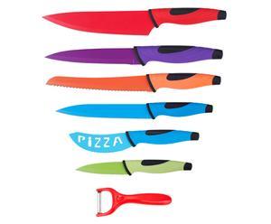 Set de 6 cuchillos y 1 pelador – multicolor