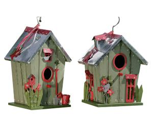 Set de 2 casetas para pájaros Janni