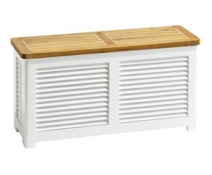 Banco con espacio de almacenamiento – blanco