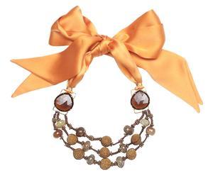 Collar Valeria– oro y naranja