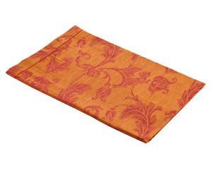 Mantel de lino Eleganza rojo y naranja – 85x85