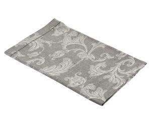 Mantel de lino Eleganza gris y beige – 85x85