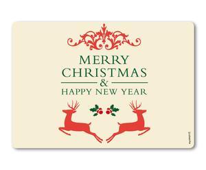 Protege salpicaduras de pared Feliz Navidad - 59x41 cm