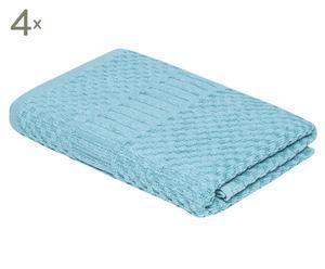 Set de 4 toallas de lavabo Clara – azul