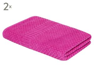 Set de 2 toallas de ducha Clara – fucsia