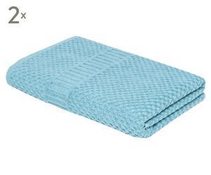 Set de 2 toallas de ducha Clara – azul