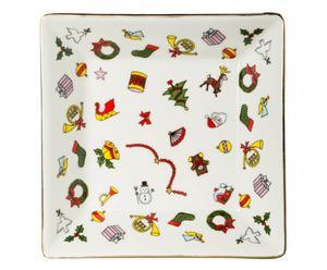 Cenicero de porcelana Noel - 12 cm