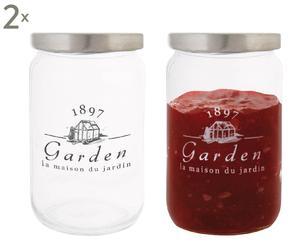 Set de 4 frascos de vidrio Garden I