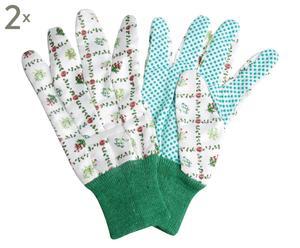 Set de 2 pares de guantes de jardinería Garden