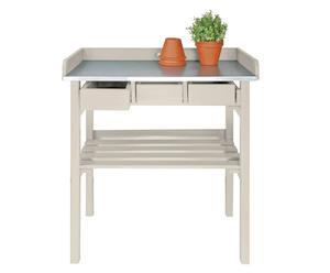 Mesa de jardinería Artemis - crema