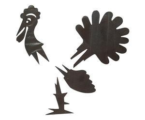 Decoración de otoño en forma de gallo Turkey - 4 piezas