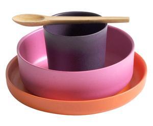 Set de vajilla infantil Biobu I, multicolor – 4 piezas
