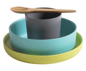 Set de vajilla infantil Biobu II, multicolor – 4 piezas