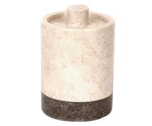 Tarro de mármol para cosméticos – blanco