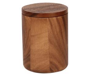Tarro en madera de acacia para cosméticos I