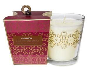 Vela aromática en frasco de vidrio - perfume de canela