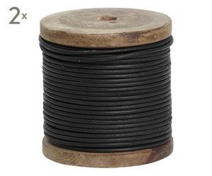 Set de 2 cintas de cuerda, negro – 10m