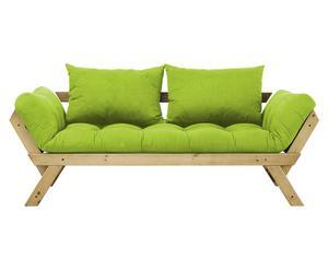 Sofá convertible en cama Bebop - miel y verde