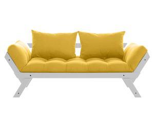 Sofá convertible en cama Bebop - gris y amarillo