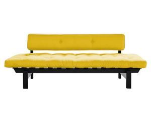 Sofá con colchón Dubstep - negro y amarillo
