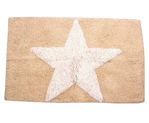 Alfombrilla de baño Star, marrón y beige - 50x80