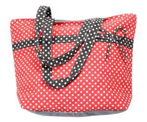 Bolsa de algodón 100% - rojo y negro