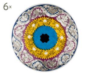 Set de 6 tiradores en porcelana Madeleine - Ø 4