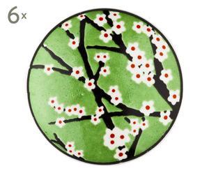 Set de 6 tiradores en porcelana Meredith - Ø 4