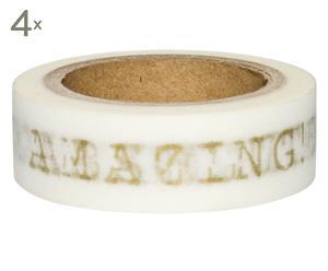 Set de 4 rollos de cinta adhesiva Amazing