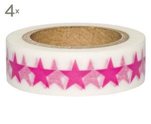 Set de 4 rollos de cinta adhesiva Stars