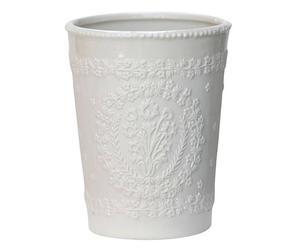 Maceta en cerámica - blanca