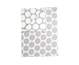Funda nórdica Bernadette, gris y blanco – 155x220