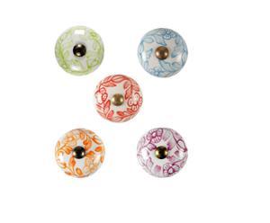 Set de 5 tiradores de cerámica Flor - Ø3