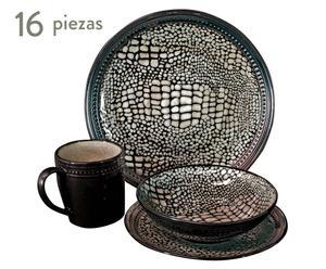 Vajilla en cerámica Kommodo – 16 piezas